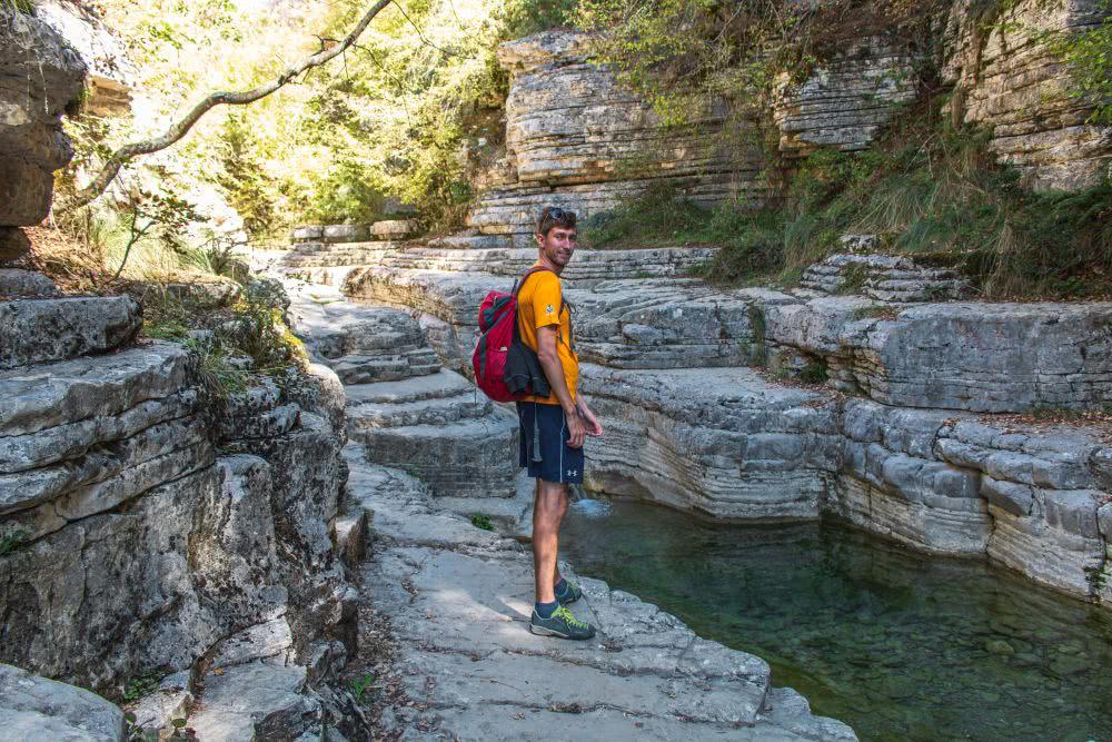 Nicht weit von der Vikosschlucht liegen die natürlichen Pools