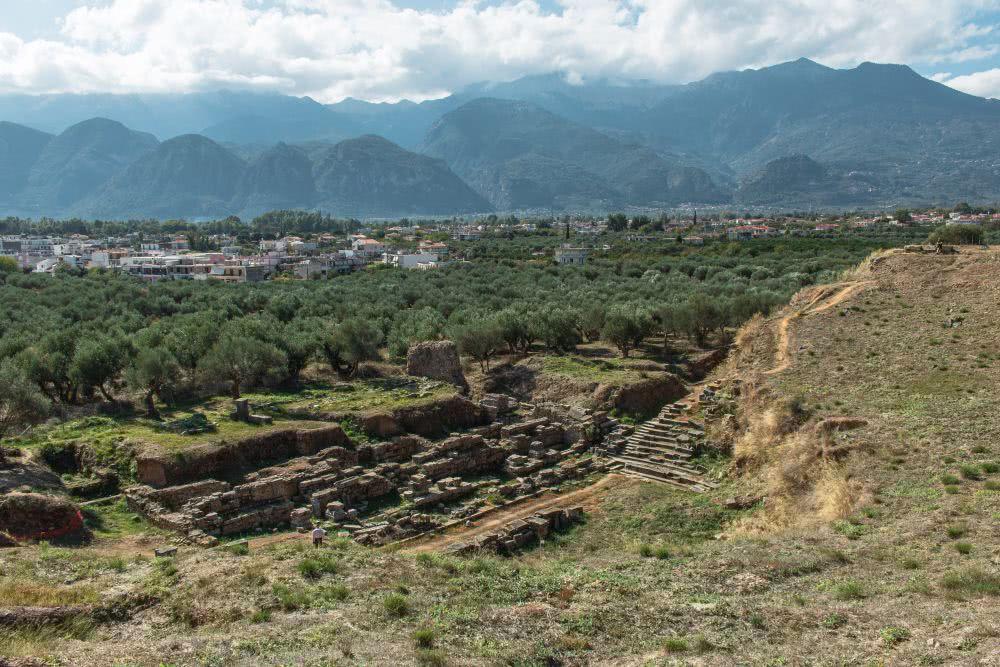 Die archäologische Stätte Sparta