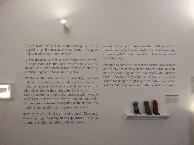 Ein weltweit einmaliges Museum: Museum of Broken Relationships