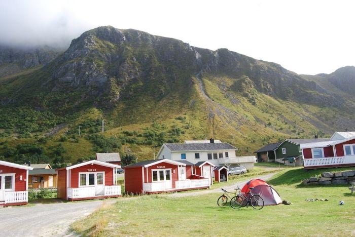 Auch Hütten gab es am Campingplatz zu mieten.
