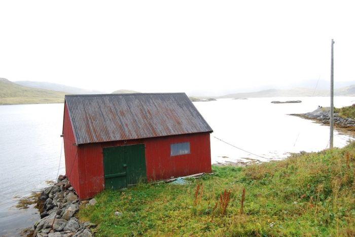 Eine kleine Fischerhütte auf den Lofoten.