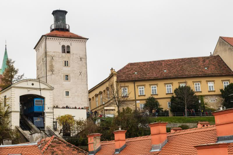 Lotrščak-Turm schießt täglich um 12 eine Kanone