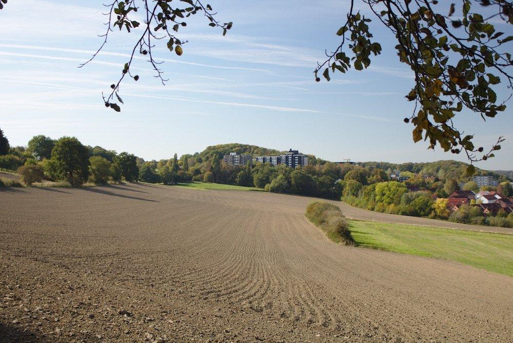 Viele Äcker entlang des Wanderpfades zwischen Hattingen und Bochum