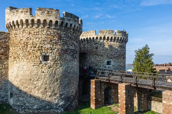 Die Festung von Belgrad liegt nicht weit von der Innenstadt