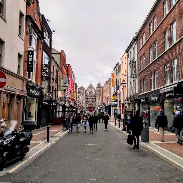 Dublins Fußgängerzone