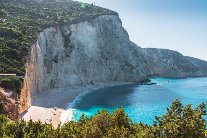 Das Ionische Meer auf der Insel Lefkada