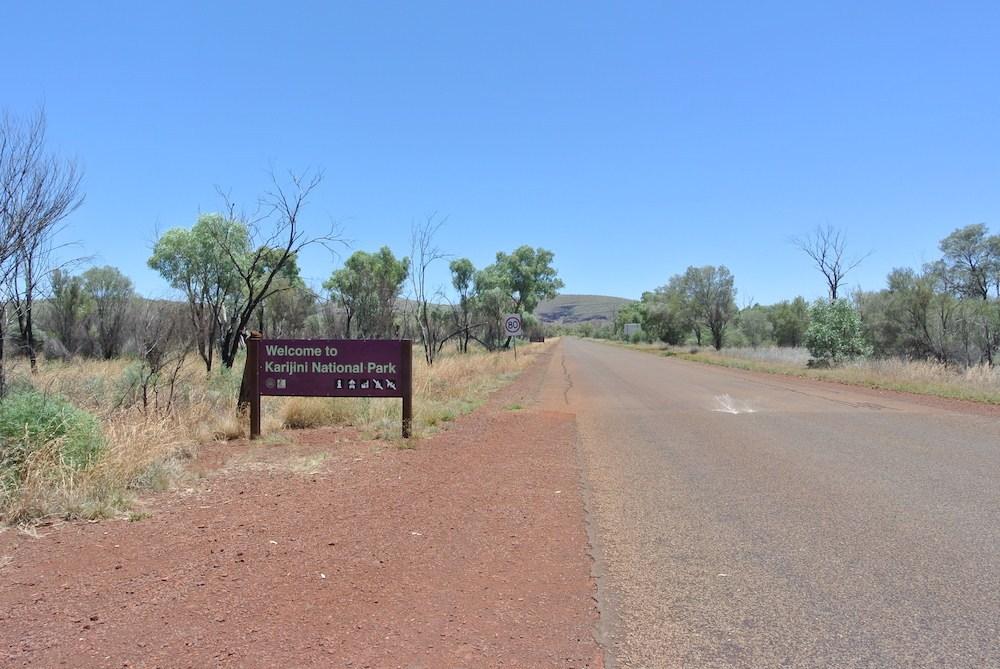 Die Einfahrt in den Nationalpark kann man nicht übersehen