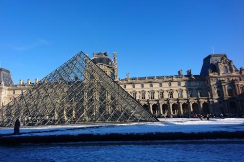 Das Louvre liegt in einem Hinterhof