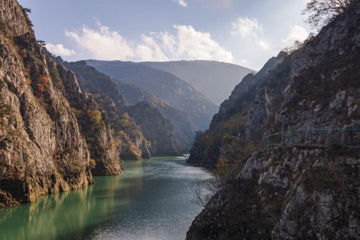 Der Matka Canyon ist bildhaft schön und liegt nicht weit von Skopje entfernt