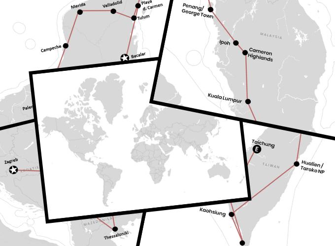 Weltreise: Route, Kosten, Planung, Backpacking & Berichte