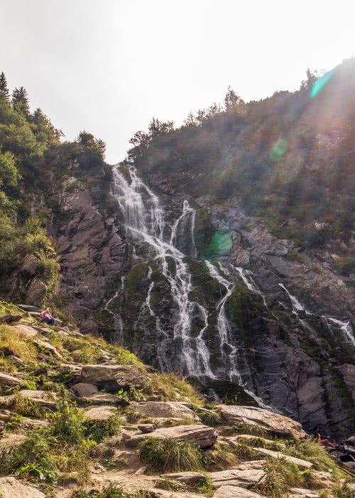 """Nach der Wanderung: Dem Wasserfall """"Cascada Bâlea ganz nah"""