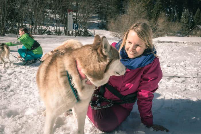 Erinnerungsfotos vom Schneeschuherlebnis