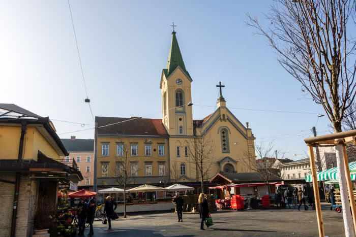 Der Bauernmarkt am Kaiser-Josef-Platz