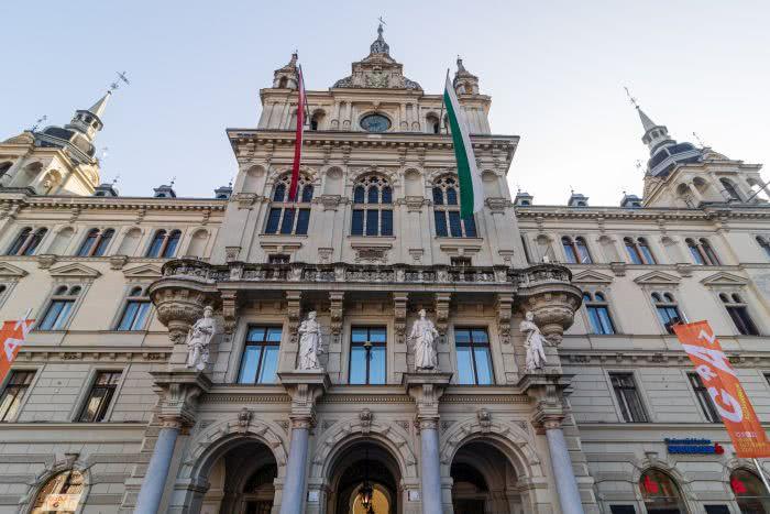 Blick auf das Grazer Rathaus
