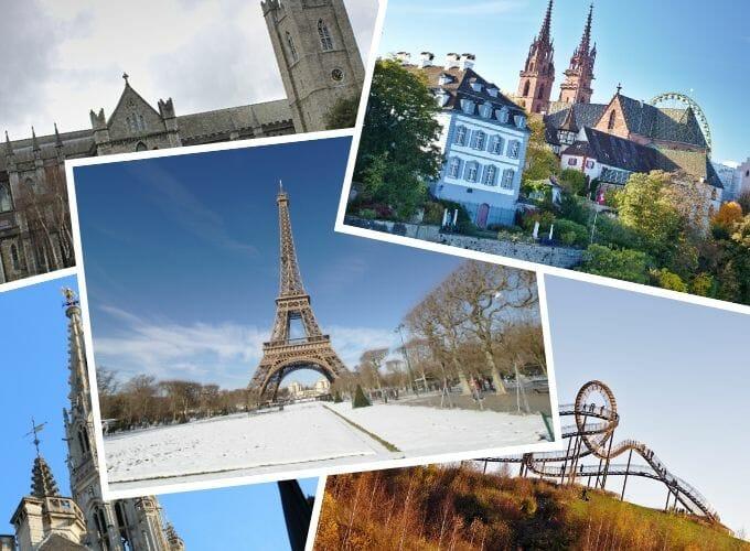 Schöne Städtereisen in Europa im Frühling, Herbst + Winter