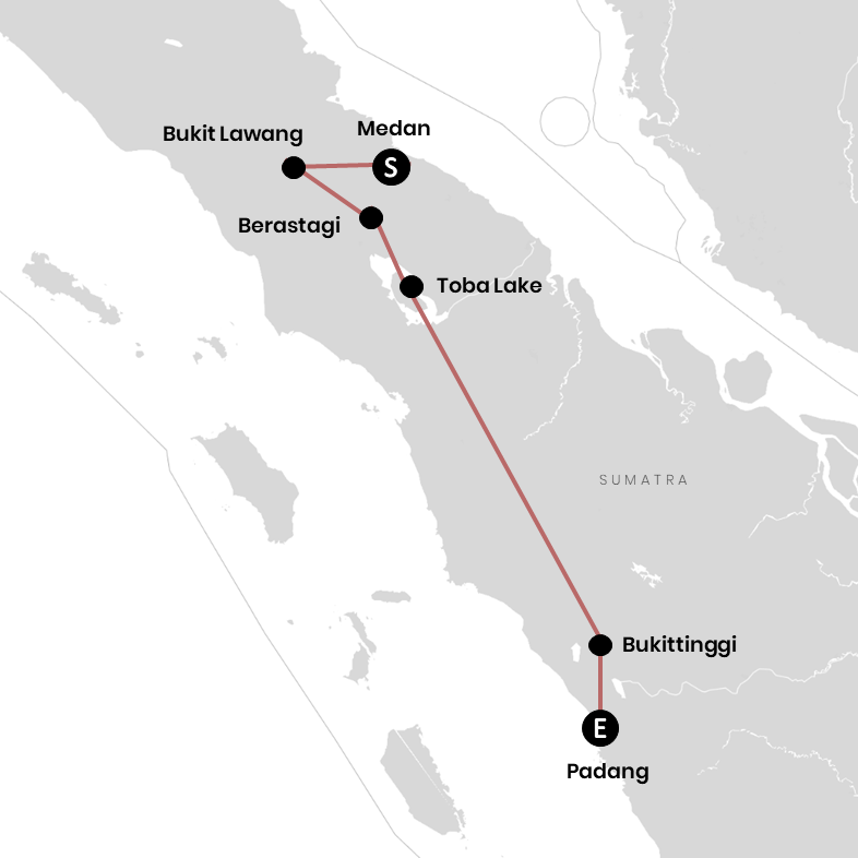 Unsere Reiseroute für Sumatra (+Karte) – Backpacking Erlebnis pur