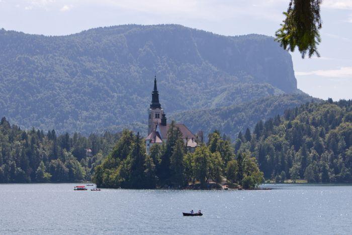 Der Bleder See mit Kirche auf der Insel