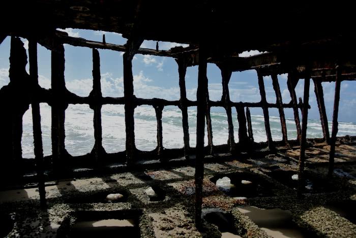 Ein Schiffswrack auf Fraser Island