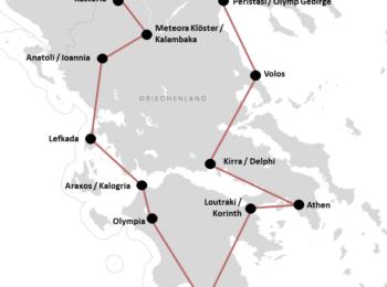 GRIECHENLAND: Unsere Griechenland Festland Rundreise mit Mietwagen (+Route)