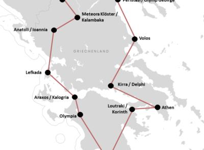 Unsere Griechenland Festland Rundreise mit Mietwagen (+Route)