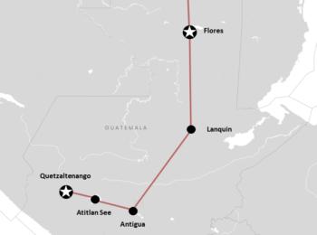 : Guatemala Reiseroute: Backpacking  & Abenteuer-Garantie (+Karte)