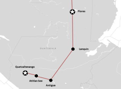 Guatemala Reiseroute: Backpacking  & Abenteuer-Garantie (+Karte)