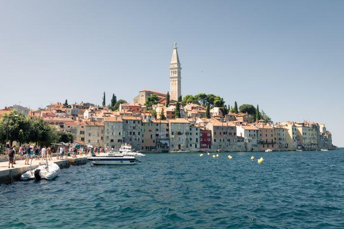 Aussicht auf die kroatische Stadt Rovinj