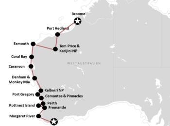 AUSTRALIEN: Westaustralien: Reiseroute von Broome bis Albany (mit Karte)