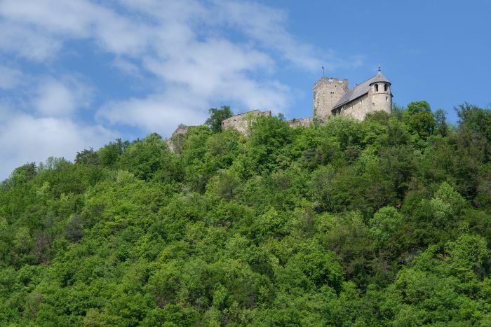 Im Sommer ist es deutlich grüner rund um die Burgruine Gösting