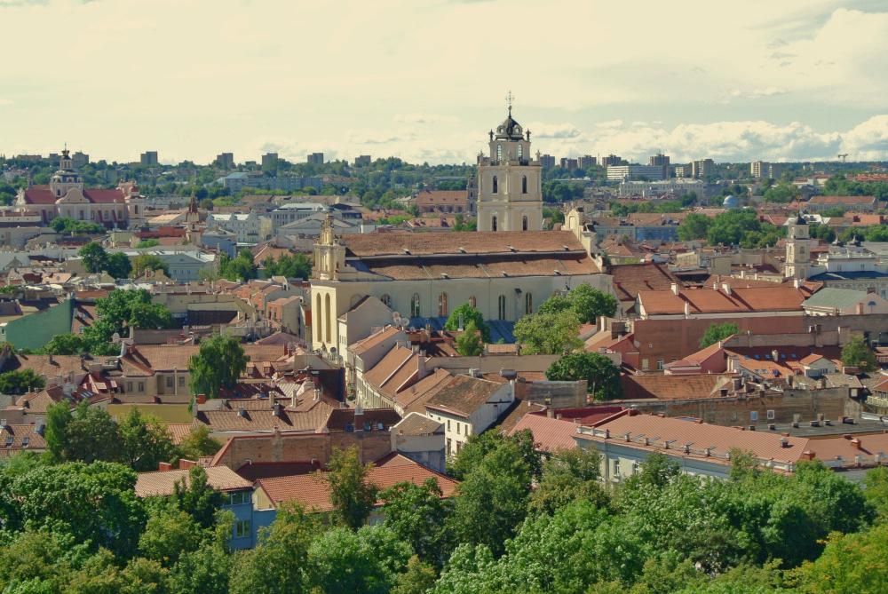 Aussicht auf das historische Zentrum von Vilnius