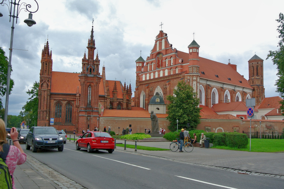 St. Anne ist eine bedeutende Kirche der litauischen Hauptstadt Vilnius