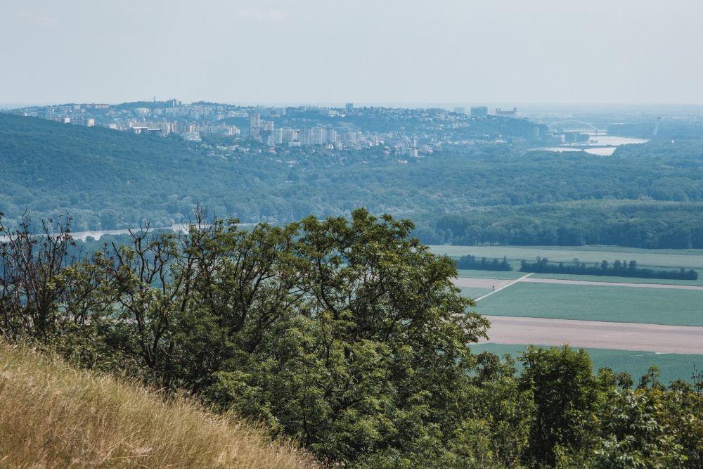 Vom Braunsberg konnten wir bis nach Bratislava schauen