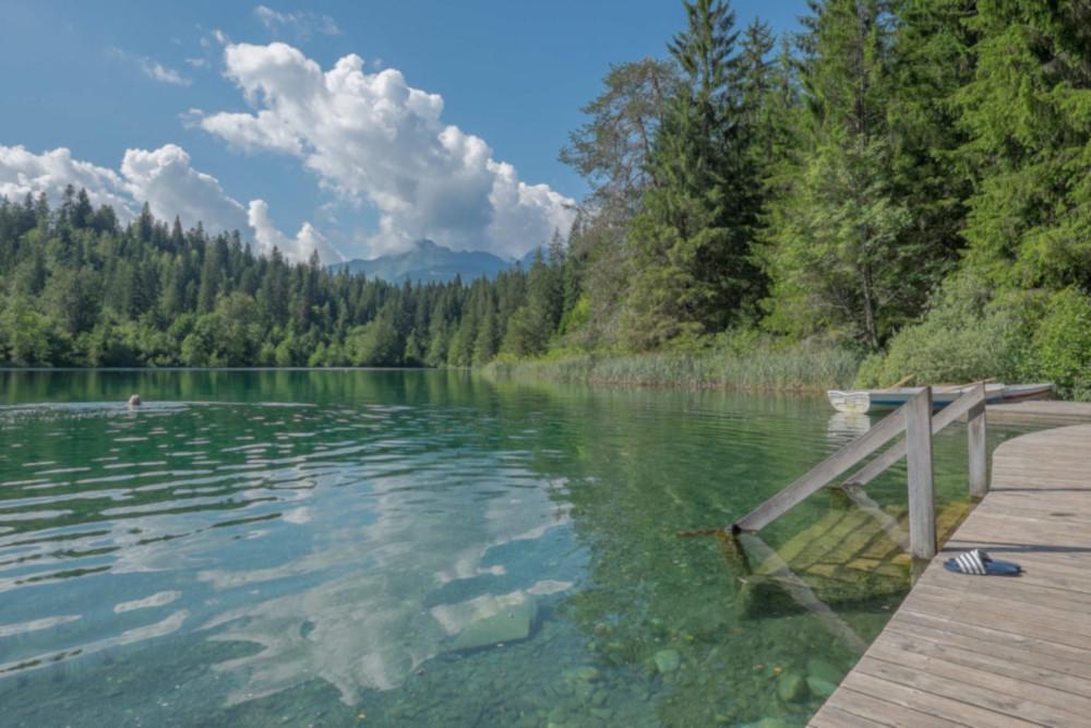 Der Crestasee liegt nicht weit vom Caumasee entfernt