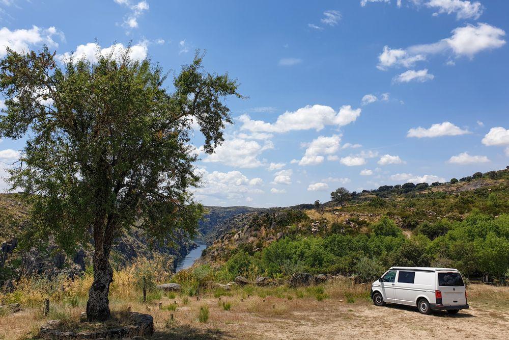 Der Duero  fließt über die iberische Halbinsel
