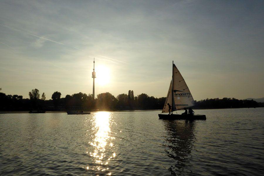 """Die """"Alte Donau"""" ist ein beliebtes Naherholungsgebiet"""