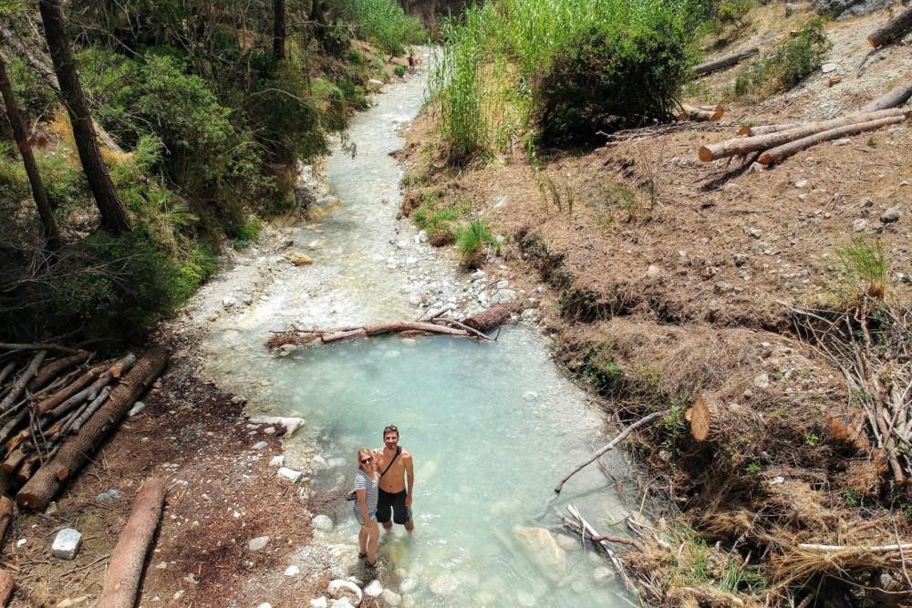 """Der Fluss """"Rio Chillar"""" ist ziemlich kristallklar"""