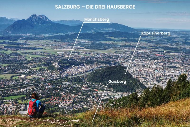 Die Lage der 3 Salzburger Hausberge
