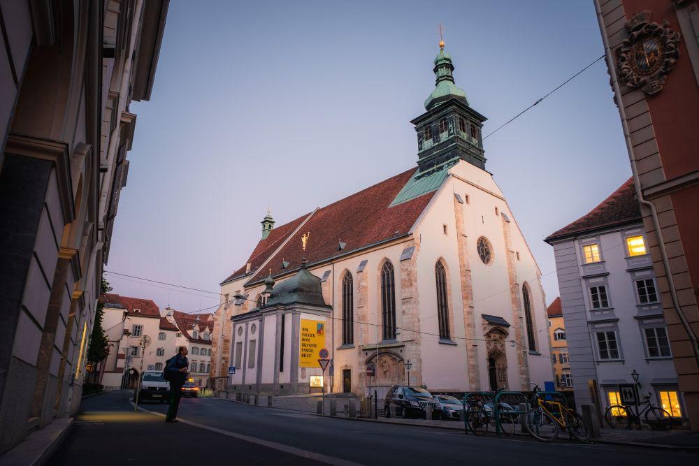 Der Grazer Dom ist Kathedrale, Bischofskirche und Pfarrkirche Hl. Ägydius