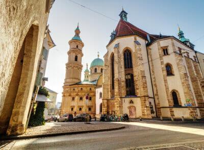 In Graz kommt man an diesen schönen Kirchen  nicht vorbei