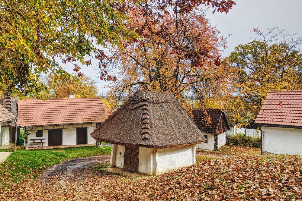 Ein Weg entlang der Kellergasse in Heiligenbrunn