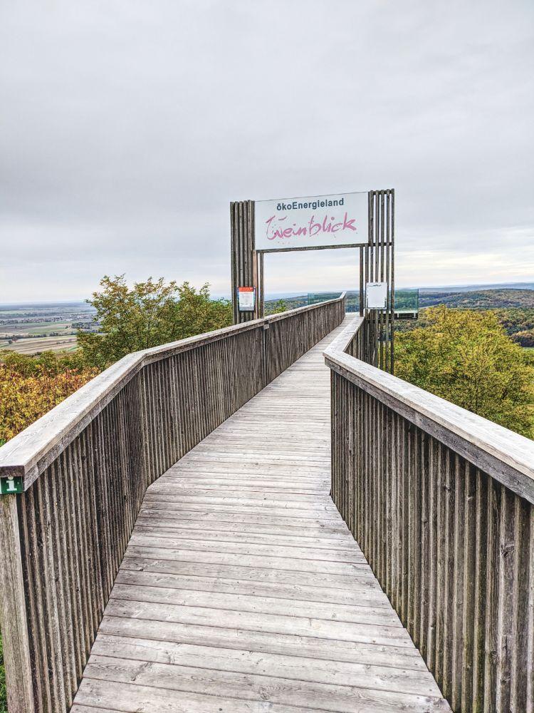 Die Aussichtsplattform Weinblick gibt es erst seit ein paar Jahren