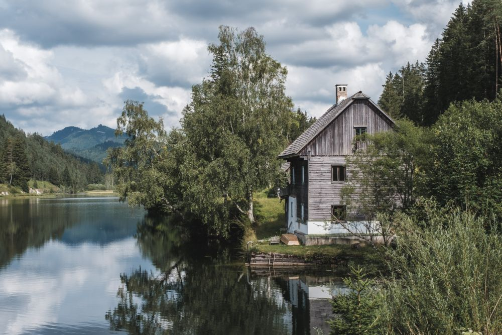 Der schöne, idyllische Hubertussee bei Mariazell
