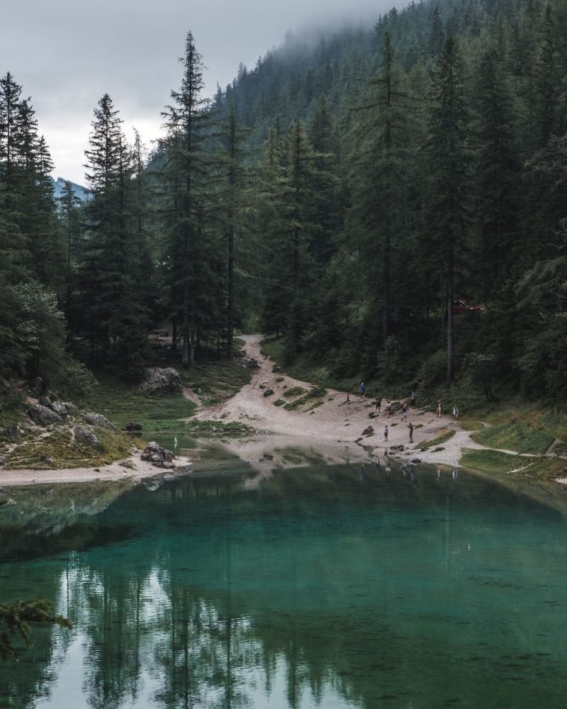 Vor allem an den Wochenenden fahren viele Menschen zum Grünen See