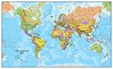 Riesige Weltkarte - Politischen Weltkartenposter - Laminiert - 119 x 84 cm - Maps International
