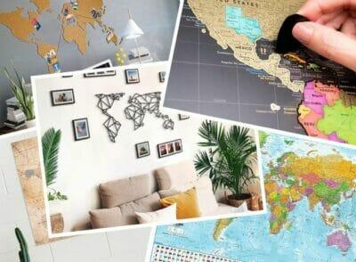 : Weltkarten verschenken – 9 Geschenk-Ideen für Vielreisende