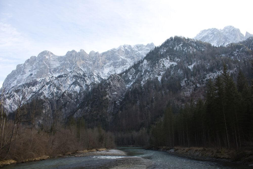 Beeindruckende Bergpanoramakulisse im Nationalpark Gesäuse