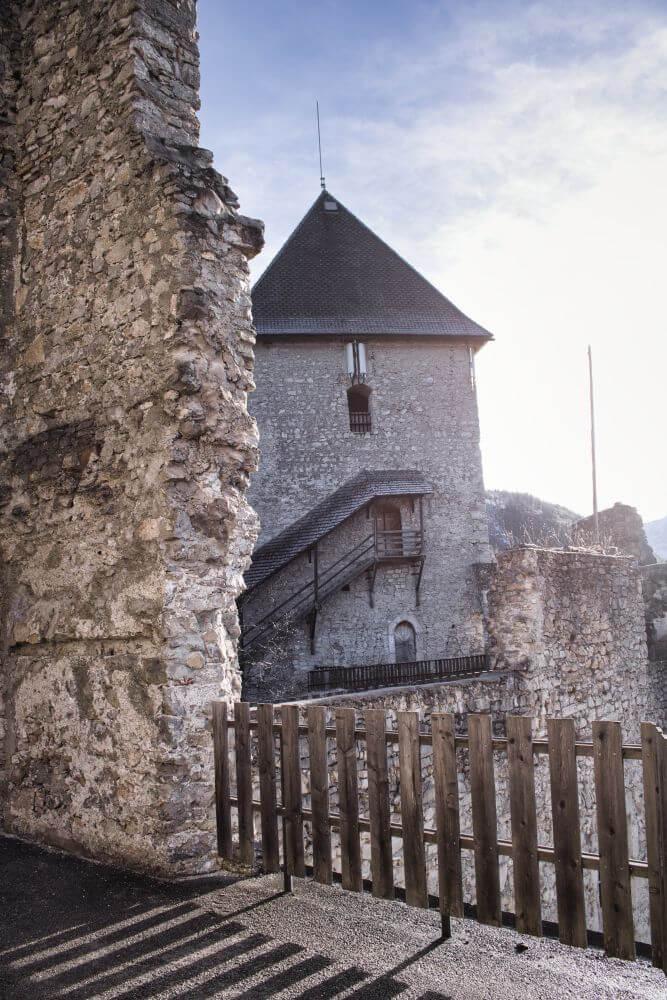 Auf dem Burggelände kann man sich in St. Gallen frei bewegen
