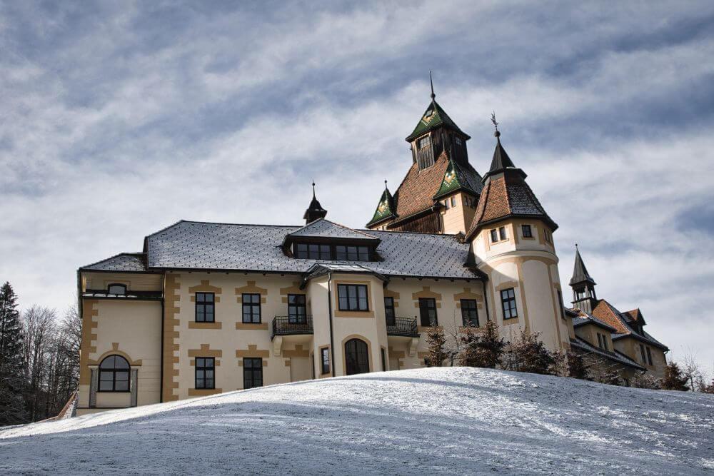 Winterromantik am Schloss Kessegg