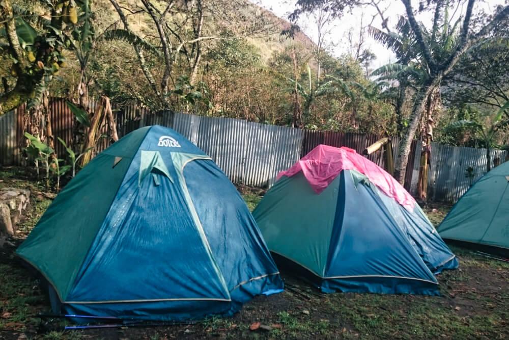 Übernachtet wird beim Salkantay Trek überwiegend im Zelt