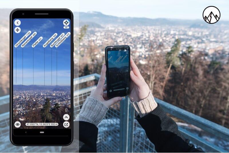 Berge und Hügel zu identifizieren ist mit der App sehr einfach